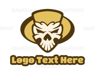 Diablo - Mexican Skull Head logo design