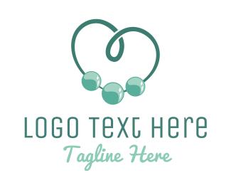 Pearl - Beads Heart logo design