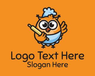Delicious - Bird Chef logo design