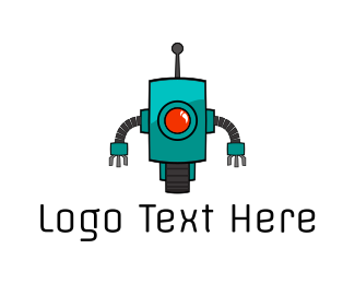 Cyclops - Mint Cyclops Robot logo design