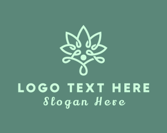 Garden - Modern Flower Outline logo design