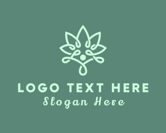 Joint - Wellness Flower logo design