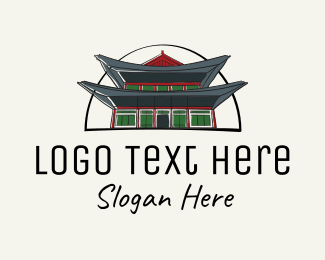 South - Korea Royal Palace  logo design