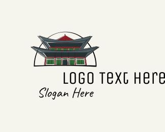 Asia - Korea Royal Palace logo design