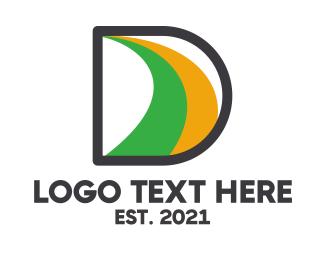 Petroleum - Black D Swoosh logo design
