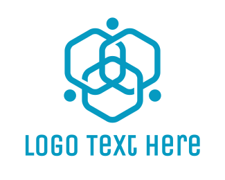 Company - Triple Hexagon Atom logo design