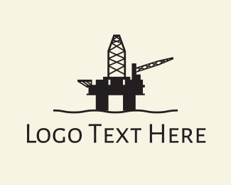 Fuel - Oil Rig logo design