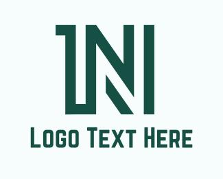 Number 1 - 1N logo design