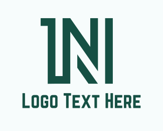 Alphabet - 1N logo design