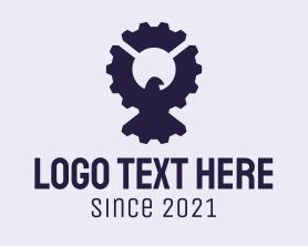 Automation - Industrial Eagle Gear logo design