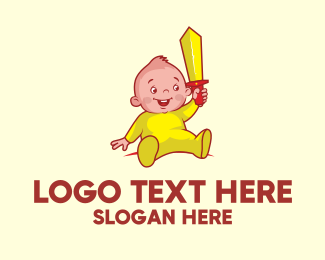 Pediatric - Baby Sword logo design