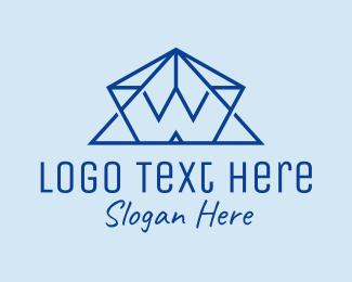Letter - Pyramid Letter W logo design