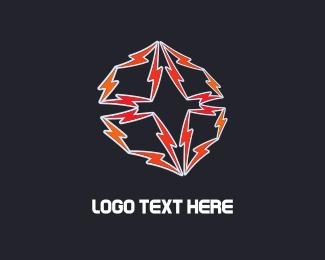 Bolt - Red Thunders logo design