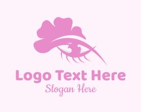 Beauty - Pink Floral Eye logo design