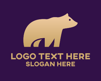 Grizzly - Cute Grizzly Bear logo design