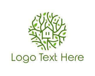 Friendly - Tree House logo design