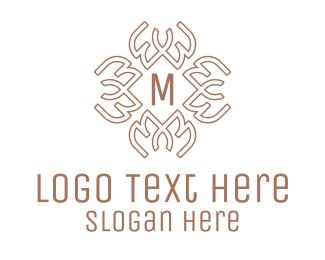 Nordic - Celtic Pattern Lettermark logo design