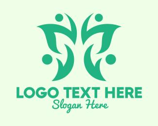 Moth - Green Eco Butterfly logo design