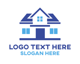 Realtor - Simple Blue House logo design