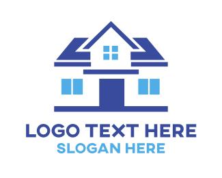 Simple - Simple Blue House logo design
