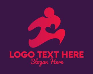 Runner - Healthy Heart Runner logo design