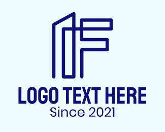 Letter F - Letter F Building logo design