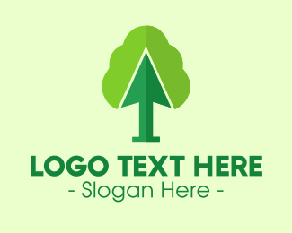 Online Learning - Green Arrow Tree logo design
