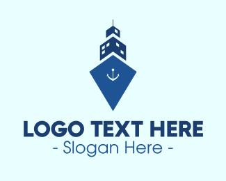 Cruise Ship - Ship Tower logo design