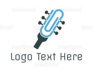 Symphony - Guitar Clip logo design