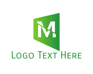 Cut - Green M Cut logo design