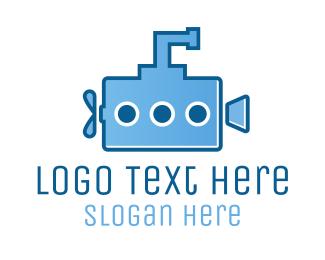 Cinema - Submarine Film logo design