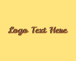 Text - Brown Rustic Text logo design