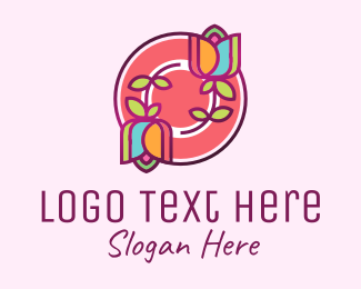 Skin Care - Flower Mosaic  logo design
