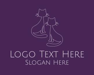 Partner - Two Cats Minimal logo design