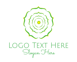 Mind - Green Flower logo design