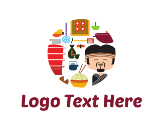 Roll - Sushi Chef logo design