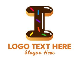 Sugar - Donut Bakeshop Letter I logo design