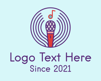 Microphone - Musical Microphone logo design
