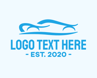 Car Racing - Blue Fast Car Race logo design