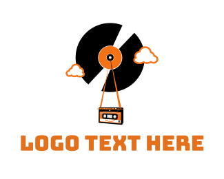 Soundcloud - Vintage Vinyl Tape logo design