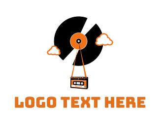 Rewind - Vintage Vinyl Tape logo design