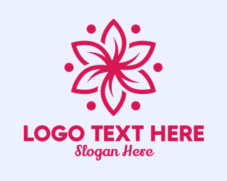 Lifestyle - Pink Flower Massage  logo design