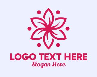 Massage - Pink Flower Massage logo design