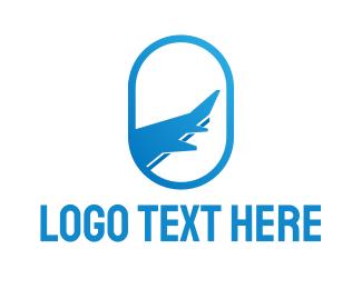 Air Travel - Blue Oval Travel logo design