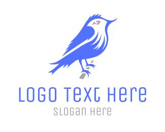 Aviary - Sparrow Bird logo design