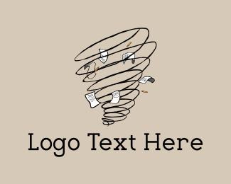 Weather - Writer Tornado logo design