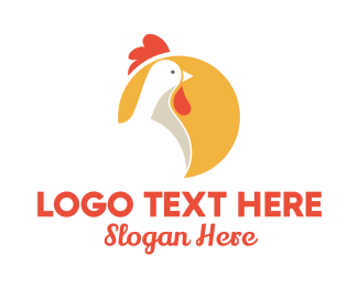 Cock Fight - Chicken Farm Circle logo design