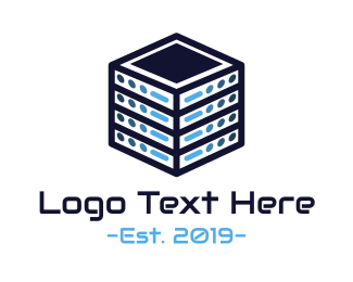 Host - Server Cube logo design