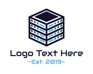 It Company - Server Cube logo design