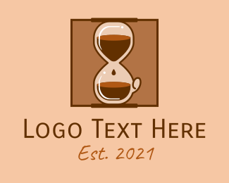 Coffee Express - Coffee Hour Glass logo design